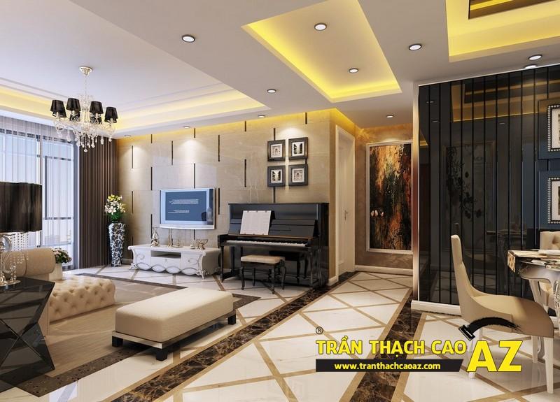 Thiết kế nội thất căn hộ chung cư tầm trung đẹp hiện đại với trần thạch cao 07
