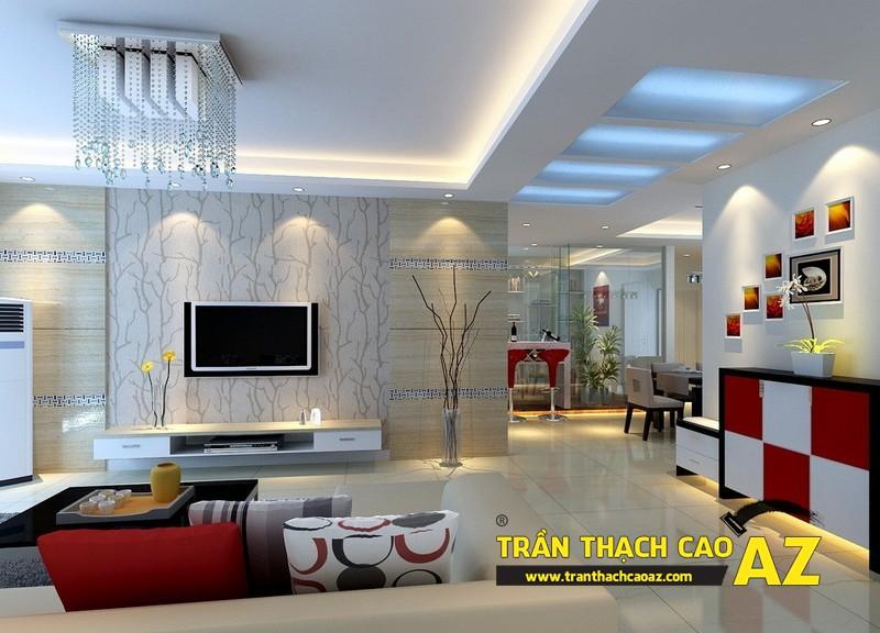 Thiết kế nội thất căn hộ chung cư tầm trung đẹp hiện đại với trần thạch cao 04