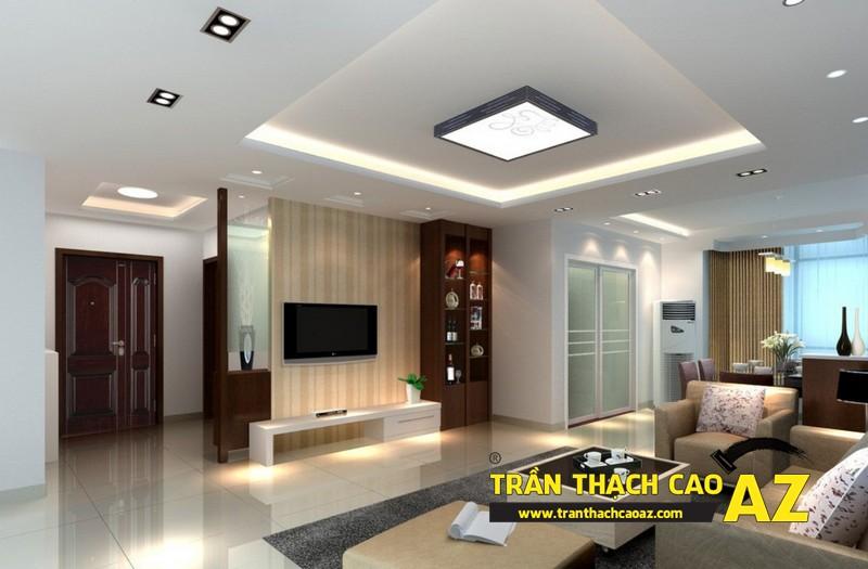 Thiết kế nội thất căn hộ chung cư tầm trung đẹp hiện đại với trần thạch cao 01