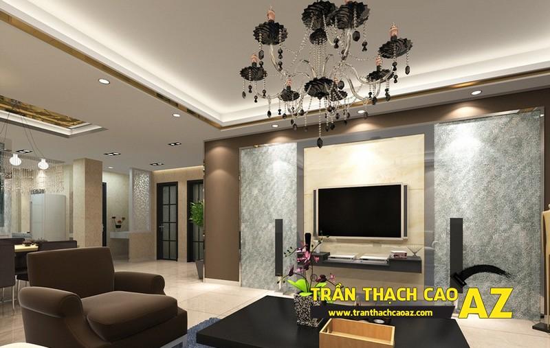 Thiết kế nội thất căn hộ chung cư tầm trung đẹp hiện đại với trần thạch cao 05