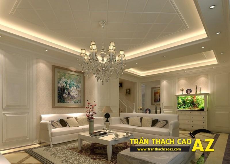 Thiết kế nội thất căn hộ chung cư tầm trung đẹp hiện đại với trần thạch cao 03