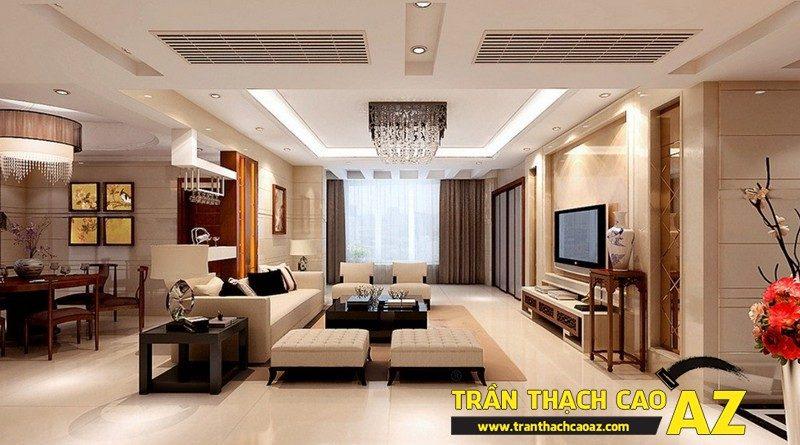 Thiết kế nội thất căn hộ chung cư tầm trung đẹp hiện đại với trần thạch cao