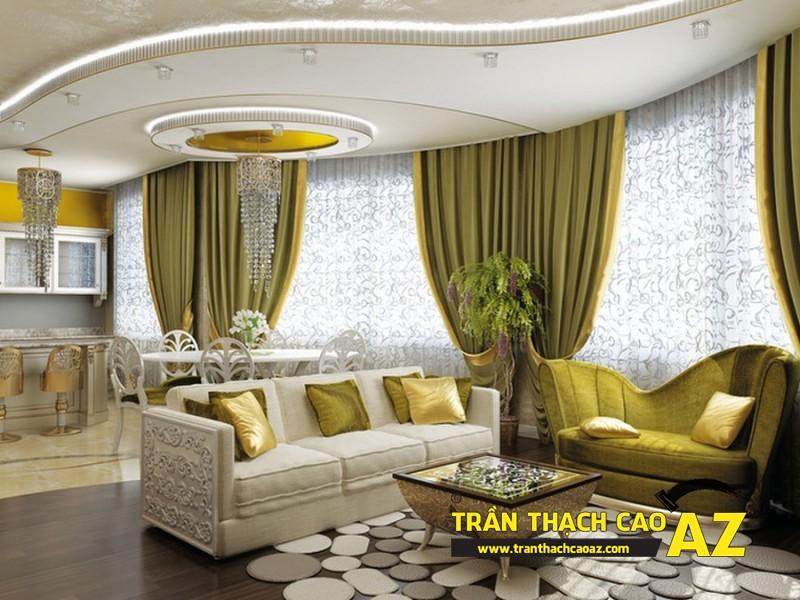 Thiết kế nội thất căn hộ chung cư tầm trung đẹp hiện đại với trần thạch cao 06