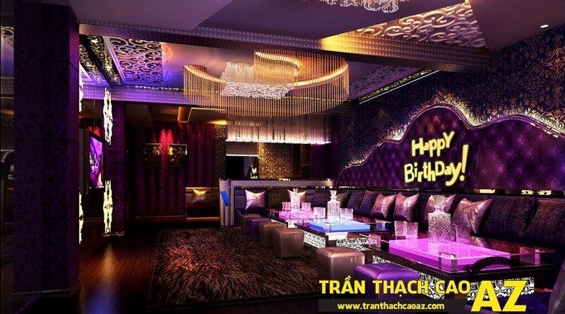 Dịch vụ thiết kế - thi công trần thạch cao phòng karaoke trọn gói