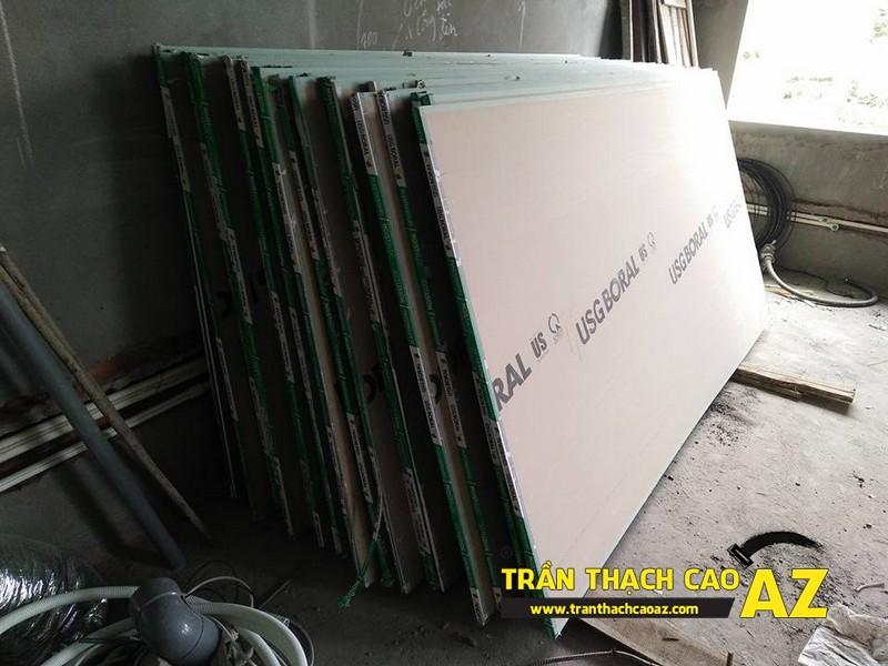 Tấm thạch cao sử dụng cho trần thạch cao biệt thự phòng khách nhà chú Đại 02