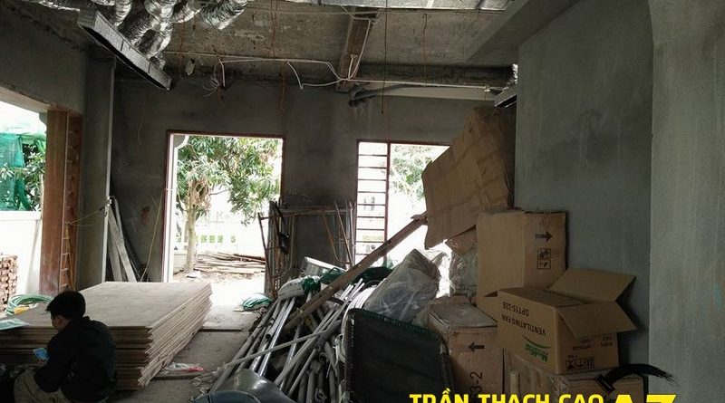 Thi công trần thạch cao biệt thự đẹp nhà chú Đại, xã Cổ Loa, Đông Anh