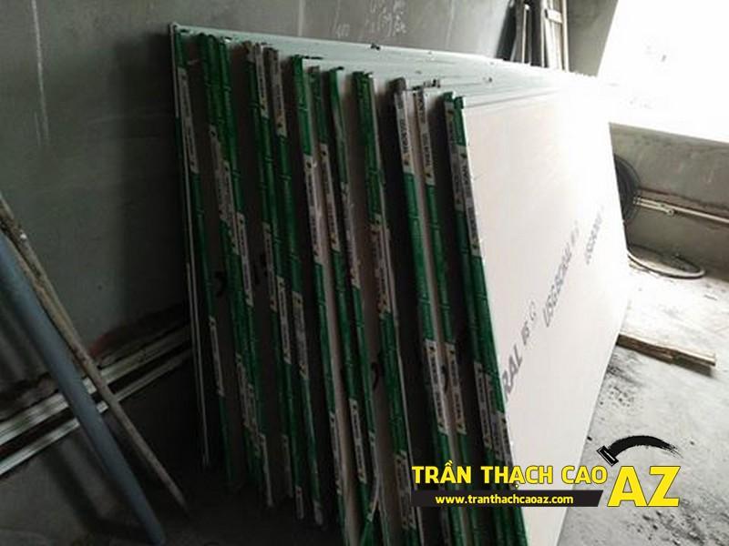 Tấm thạch cao sử dụng cho trần thạch cao biệt thự phòng khách nhà chú Đại 01