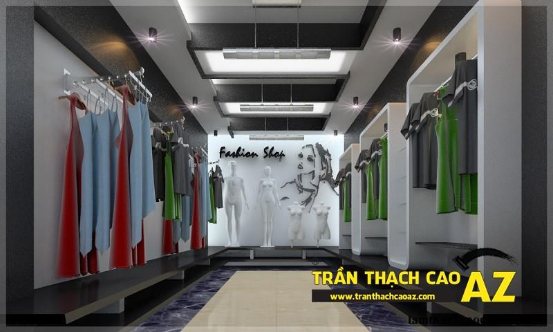 Thiết kế trần thạch cao cho cửa hàng thời trang