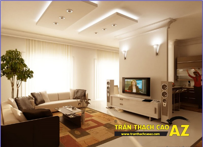 Thiết kế trần thạch cao cho nhà chung cư rẻ, đẹp