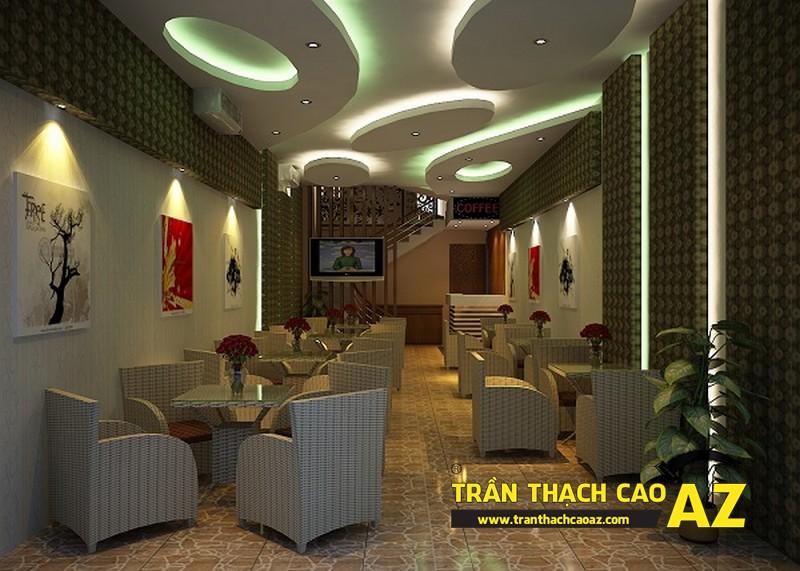 Thiết kế trần thạch cao cho quán cafe độc đáo, chuyên nghiệp