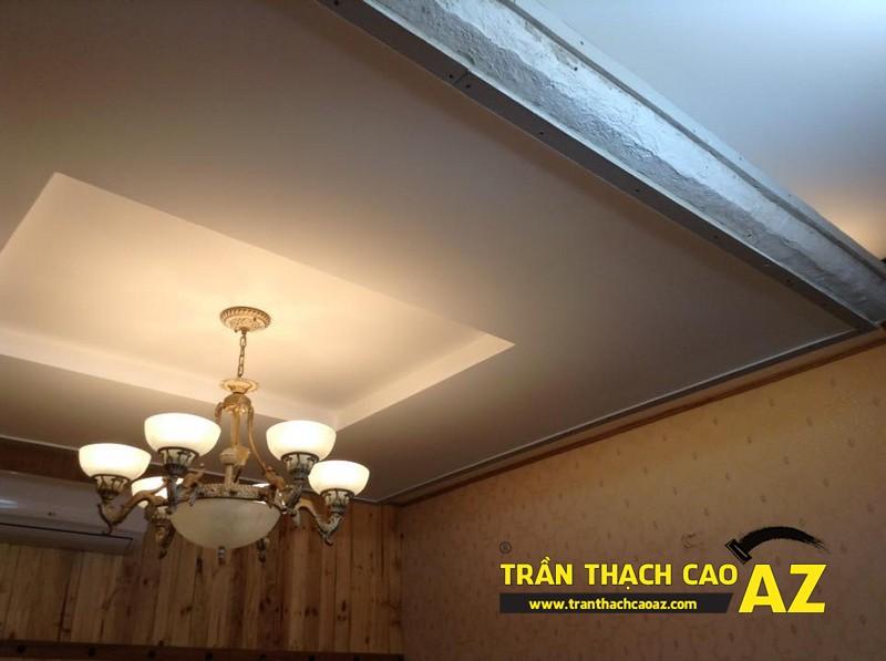 Hoàn thiện thiết kế trần thạch cao của nhà hàng Lẩu Nấm của anh Hà 03