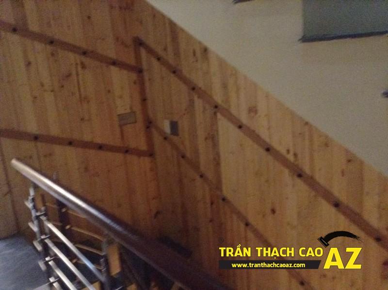 Hoàn thiện thiết kế trần thạch cao của nhà hàng Lẩu Nấm của anh Hà 05