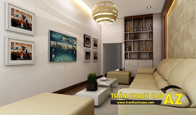 Phương án thiết kế trần thạch cao phòng khách đẹp hiện đại 01
