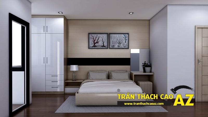 Phương án thiết kế trần thạch cao phòng ngủ vợ chồng chị Tâm