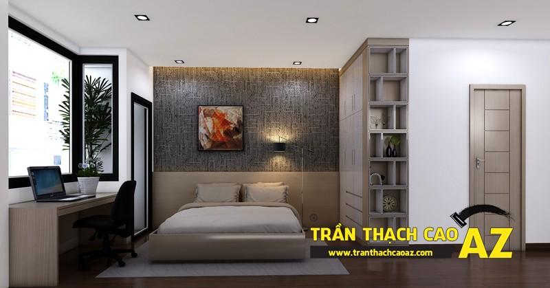 Phương án thiết kế trần thạch cao phòng ngủ đẹp cho người con trai lớn 02