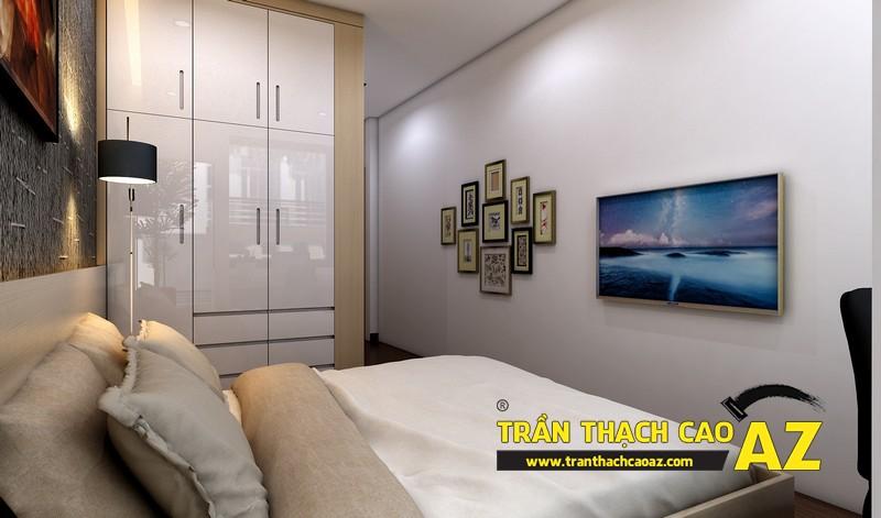 Phương án thiết kế trần thạch cao phòng ngủ đẹp cho người con trai lớn 05