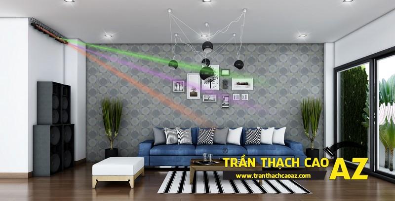 Phương án thiết kế trần thạch cao phòng sinh hoạt chung 02