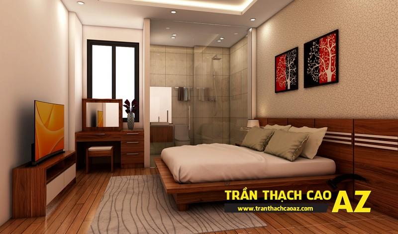Phương án thiết kế trần thạch cao phòng ngủ vợ chồng chị Đào 01