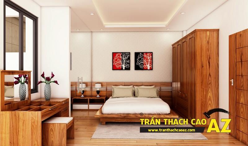 Phương án thiết kế trần thạch cao phòng ngủ vợ chồng chị Đào 02
