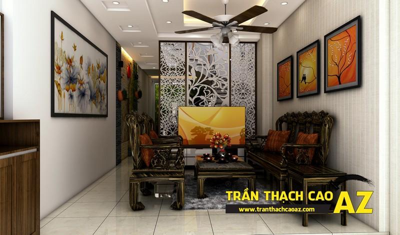 Phương án thiết kế trần thạch cao phòng khách đẹp hiện đại