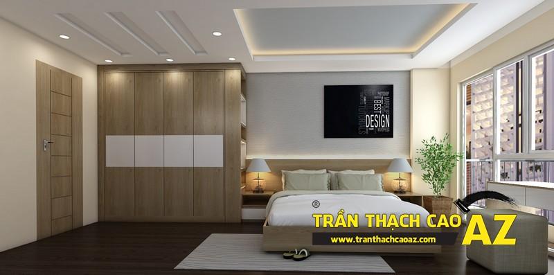 Phương án thiết kế trần thạch cao đẹp hiện đại, bắt mắt dành cho phòng ngủ vợ chồng 01