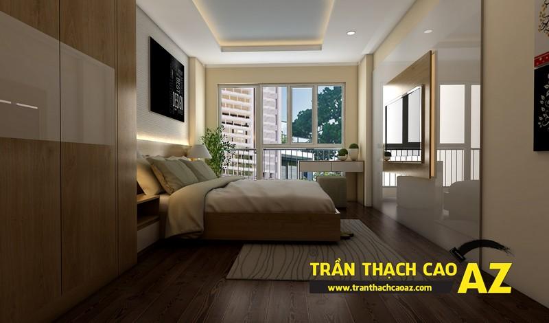 Phương án thiết kế trần thạch cao đẹp hiện đại, bắt mắt dành cho phòng ngủ vợ chồng 02