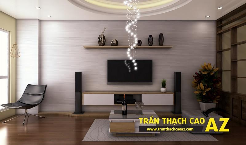 Phương án thiết kế trần thạch cao đẹp hiện đại, bắt mắt dành cho phòng khách 02