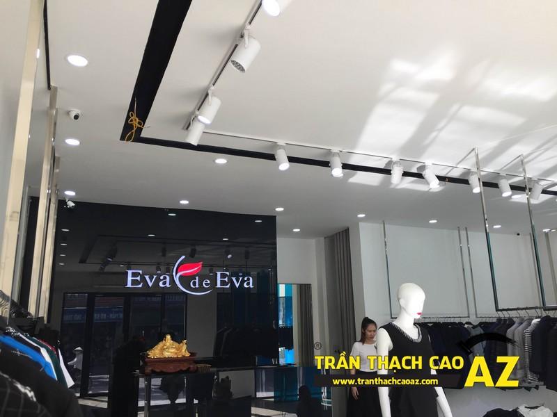 Thiết kế trần thạch cao đẹp quý phái của shop thời trang Eva De Eva Hà Nam 05