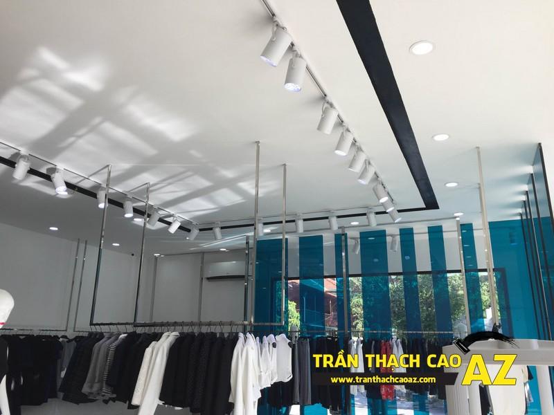 Thiết kế trần thạch cao đẹp quý phái của shop thời trang Eva De Eva Hà Nam 02