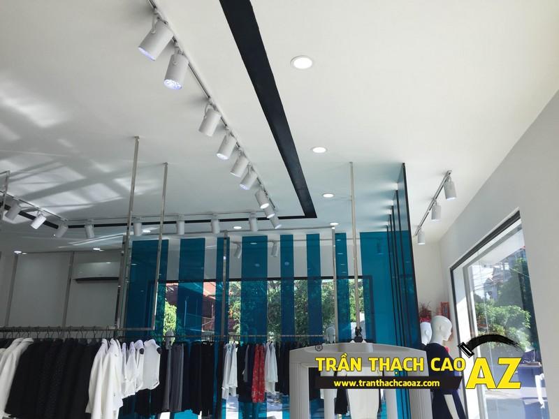 Thiết kế trần thạch cao đẹp quý phái của shop thời trang Eva De Eva Hà Nam 01