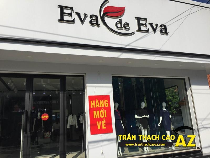 Thiết kế trần thạch cao đẹp quý phái của shop thời trang Eva De Eva Hà Nam 07