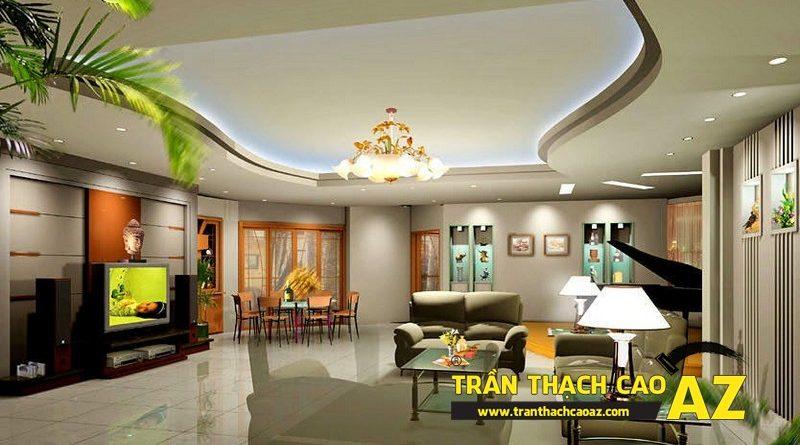 Thiết kế trần thạch cao phòng khách cho căn hộ Time City
