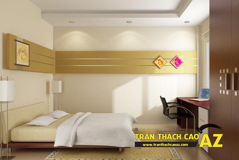 Thiết kế trần thạch cao phòng ngủ cho nhà chung cư