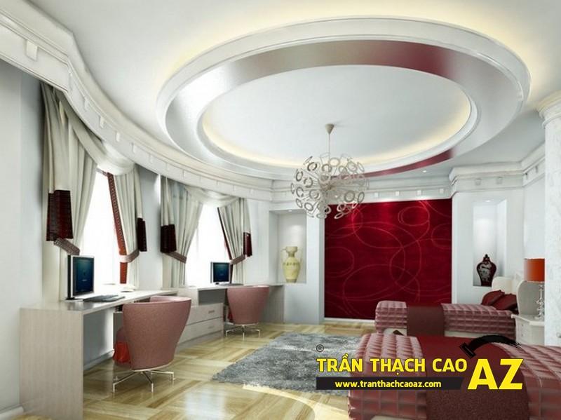 Thiết kế trần thạch cao phòng ngủ đẹp lung linh cho nhà chung cư