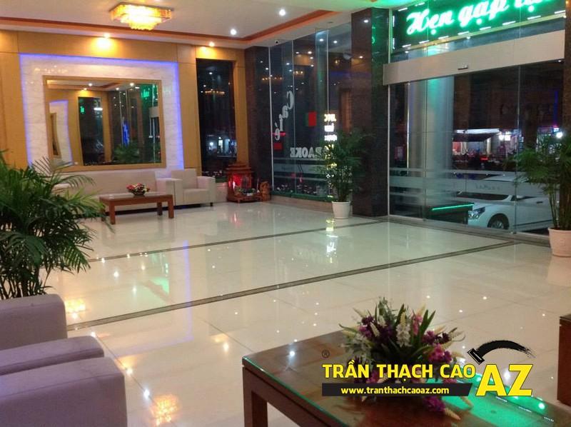 Thiết kế trần thạch cao sảnh đẹp sang trọng, hiện đại của Khách sạn 2-9 Hà Nam - 05
