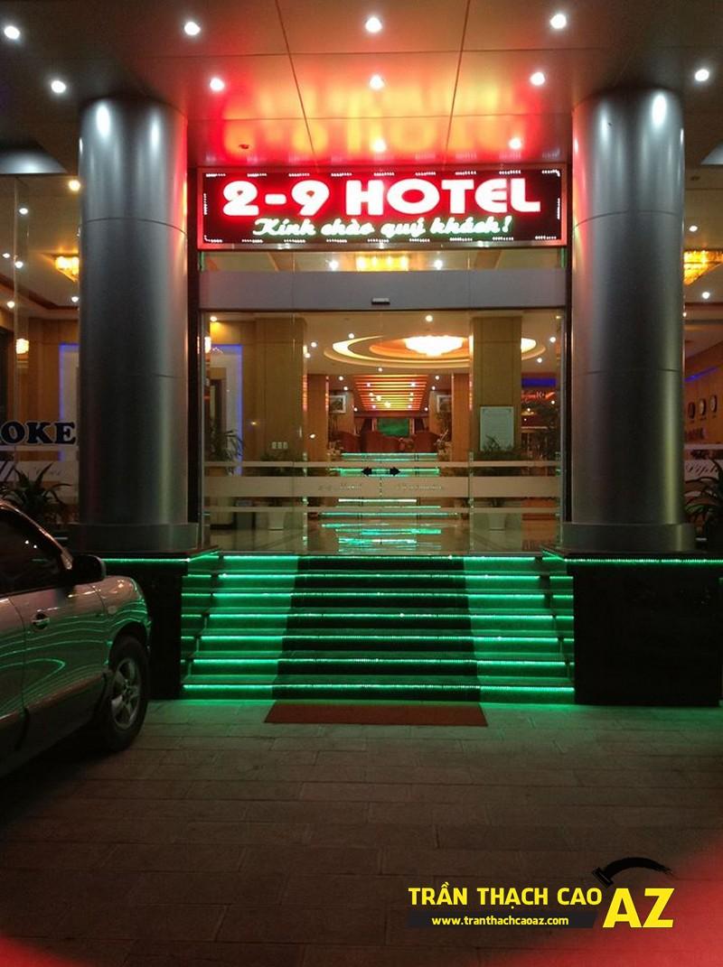 Thiết kế trần thạch cao sảnh đẹp sang trọng, hiện đại của Khách sạn 2-9 Hà Nam - 06