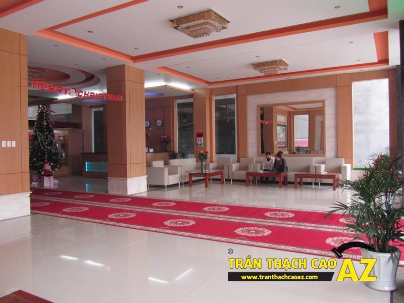 Thiết kế trần thạch cao sảnh đẹp sang trọng, hiện đại của Khách sạn 2-9 Hà Nam - 01
