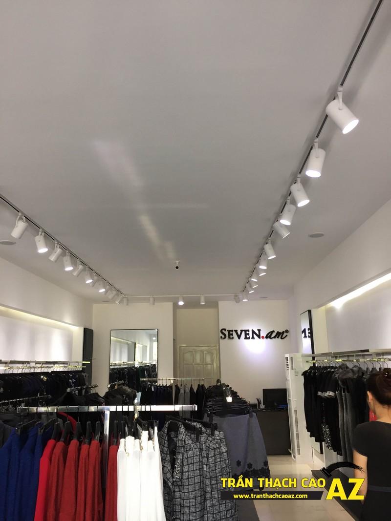Thiết kế trần thạch cao shop đẹp đẳng cấp của cửa hàng Seven.am Hà Nam 05