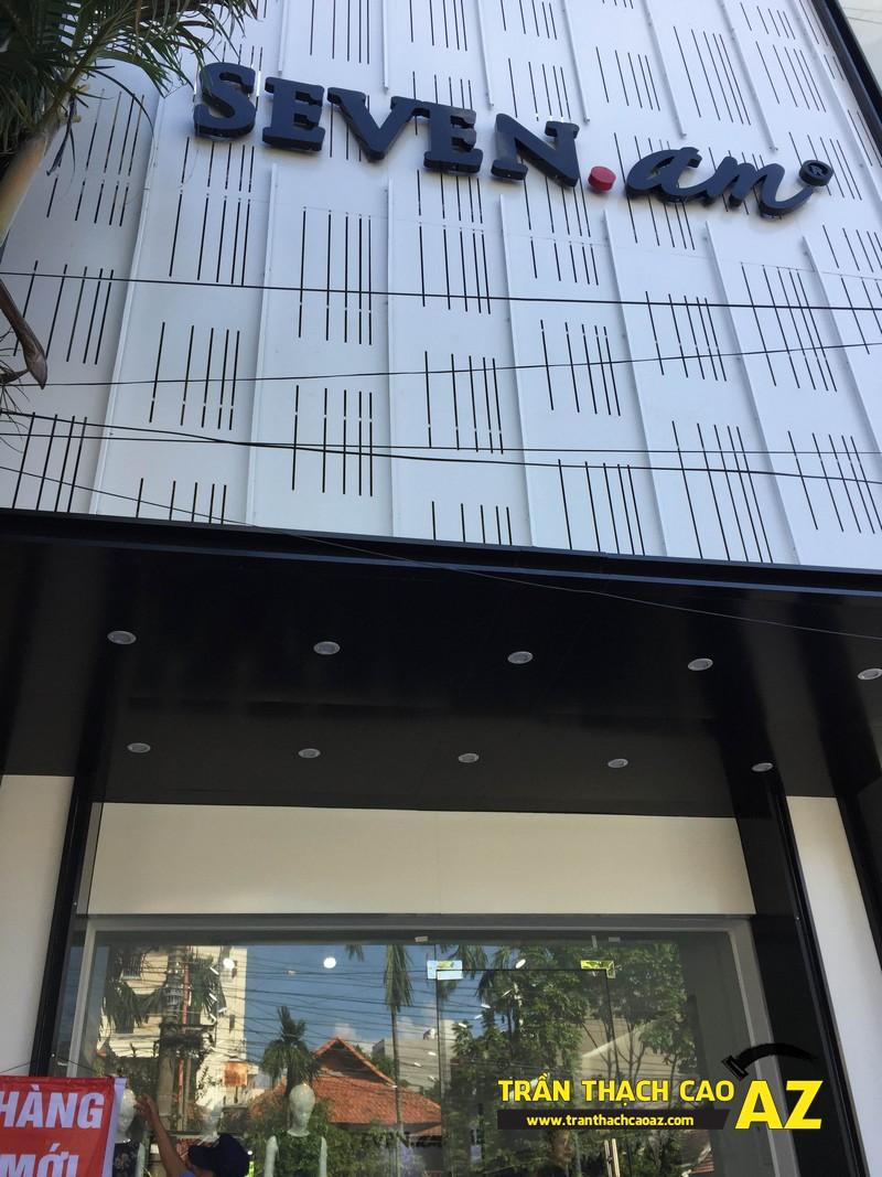Thiết kế trần thạch cao shop đẹp đẳng cấp của cửa hàng Seven.am Hà Nam 01