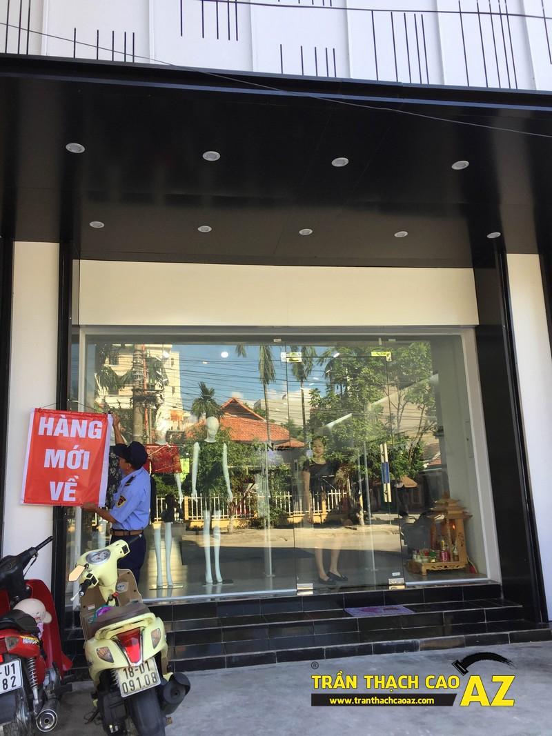 Thiết kế trần thạch cao shop đẹp đẳng cấp của cửa hàng Seven.am Hà Nam 02
