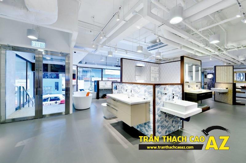 Dịch vụ thiết kế trần thạch cao showroom - shop giá rẻ, trọn gói 01