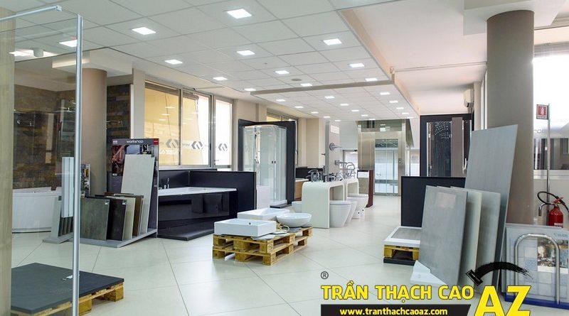 Dịch vụ thiết kế trần thạch cao showroom - shop giá rẻ, trọn gói