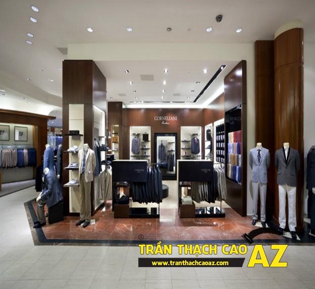Trần thạch cao cho shop quần áo trọn gói, giá rẻ