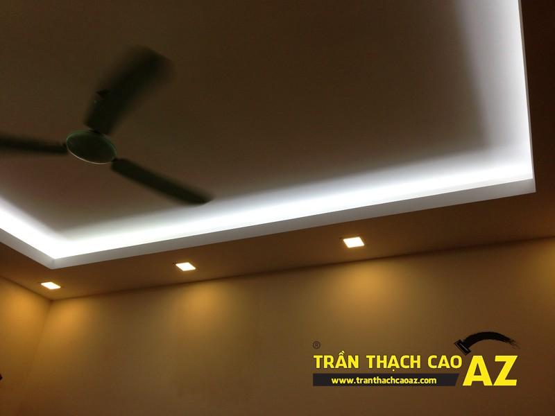 Trần thạch cao phòng khách nhà ống đẹp đơn giản nhà nhà anh Long 03