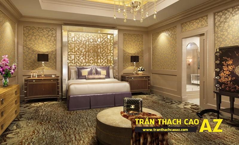 Thiết kế trần thạch cao phòng ngủ đẹp giúp vợ chồng son trăm năm hạnh phúc 05