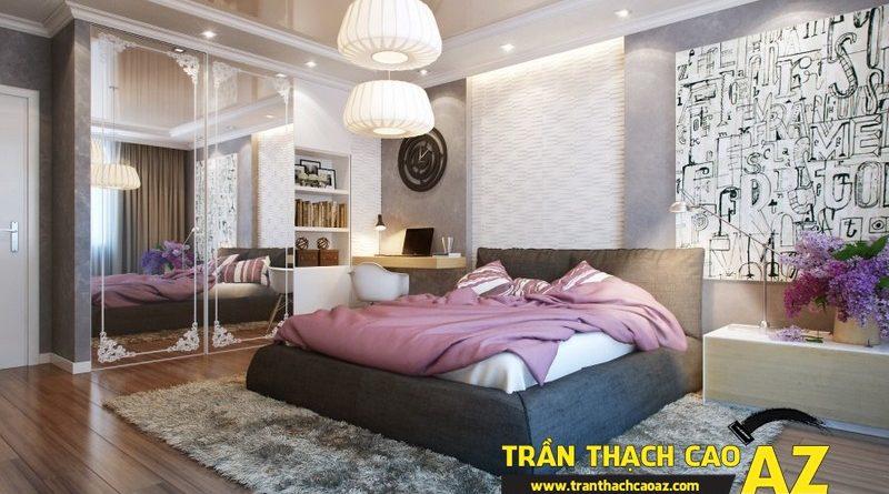 Chọn trần thạch cao phòng ngủ đẹp giúp vợ chồng son trăm năm hạnh phúc