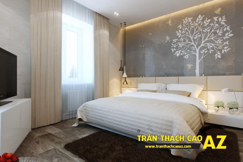 Thiết kế trần thạch cao phòng ngủ đẹp giúp vợ chồng son trăm năm hạnh phúc 02