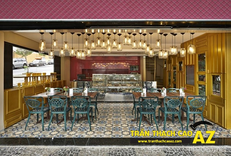 """""""Trình làng"""" mẫu trần thạch cao ấn tượng nhất cho quán cafe 2017"""