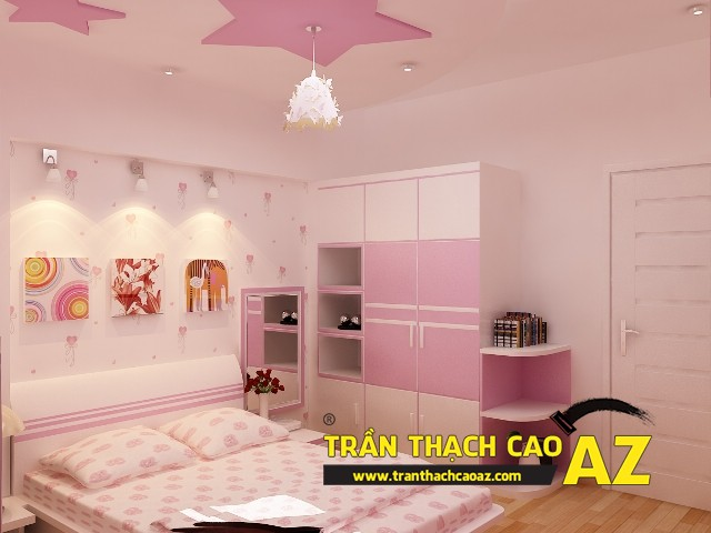 Tư vấn thiết kế trần thạch cao phòng ngủ cho trẻ em