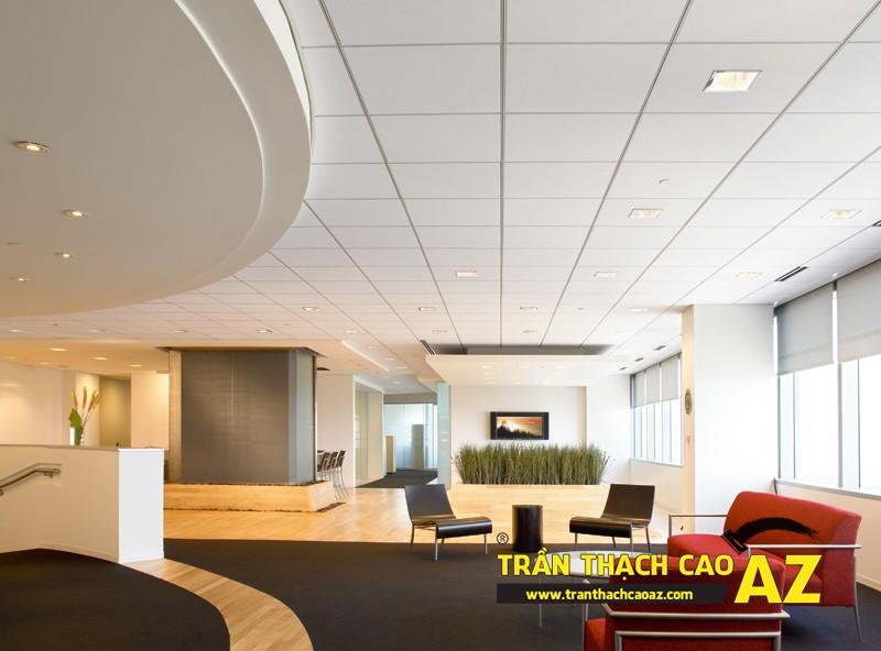 Văn phòng muốn hiện đại phải sử dụng trần thạch cao -02